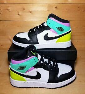 Details about 100% Authentic Nike Air Jordan 1 Mid GS Pastel Size 5Y = Women 6.5 (554725-175)
