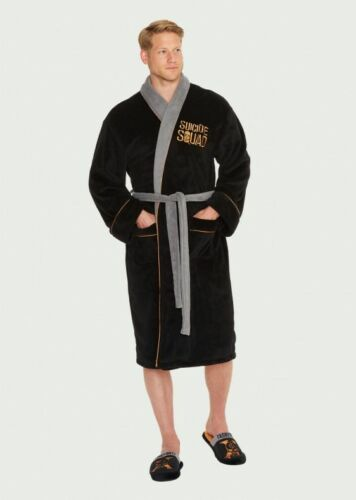 Robe Mens Fleece Taskforce Adult Mule Slippers Gown Suicide Dressing Squad Night q7txnf8