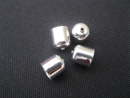 4 Endkappen silberfarbig  6mm Perlen top neu 5823