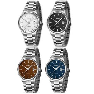 Business-Men-039-s-Date-Dial-Wrist-Watch-Stainless-Steel-Analog-Quartz-Wristwatch