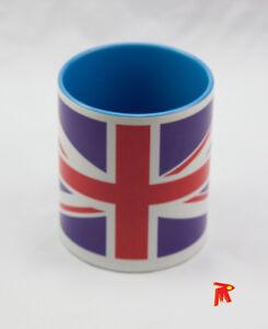 United-Kingdom-Flag-Blue-Handle-Mug-Cd-dangler-Metal-Hexagonal-shape-Keyring
