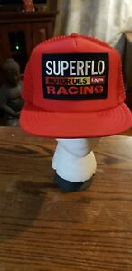 4fd906b0e Details about VTG SUPERFLO Motor Oils Exxon Racing Snapback adjustable hat  with PATCH