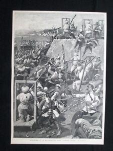 Lotta-alla-baionetta-nell-039-esercito-russo-Stampa-del-1902