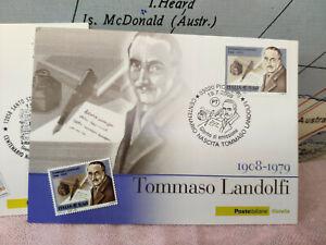 Cartolina Tommaso Landolfi 1908 1979 Centenario Francobollo Timbro 2008 L5