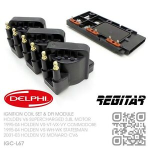 DELPHI-IGNITION-COILS-amp-DFI-V6-SUPERCHARGED-3-8L-HOLDEN-VS-VT-VX-VY-COMMODORE