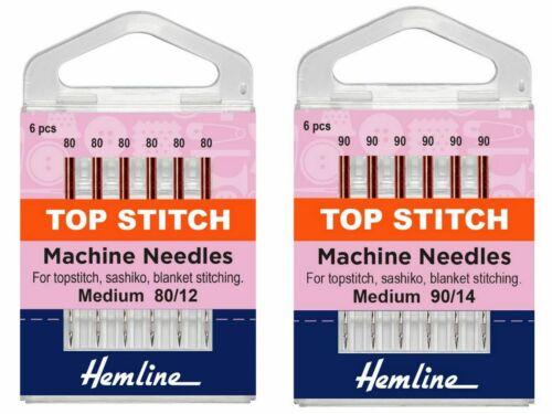 Top Stitch Sewing Machine Needles Extra Sharp For Medium Heavy Fabrics