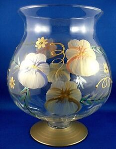 eBay & Details about Gorgeous MADIGGAN AUSTRALIA Hand-Painted FLORAL Art Glass Vase Urn COLLECTABLE