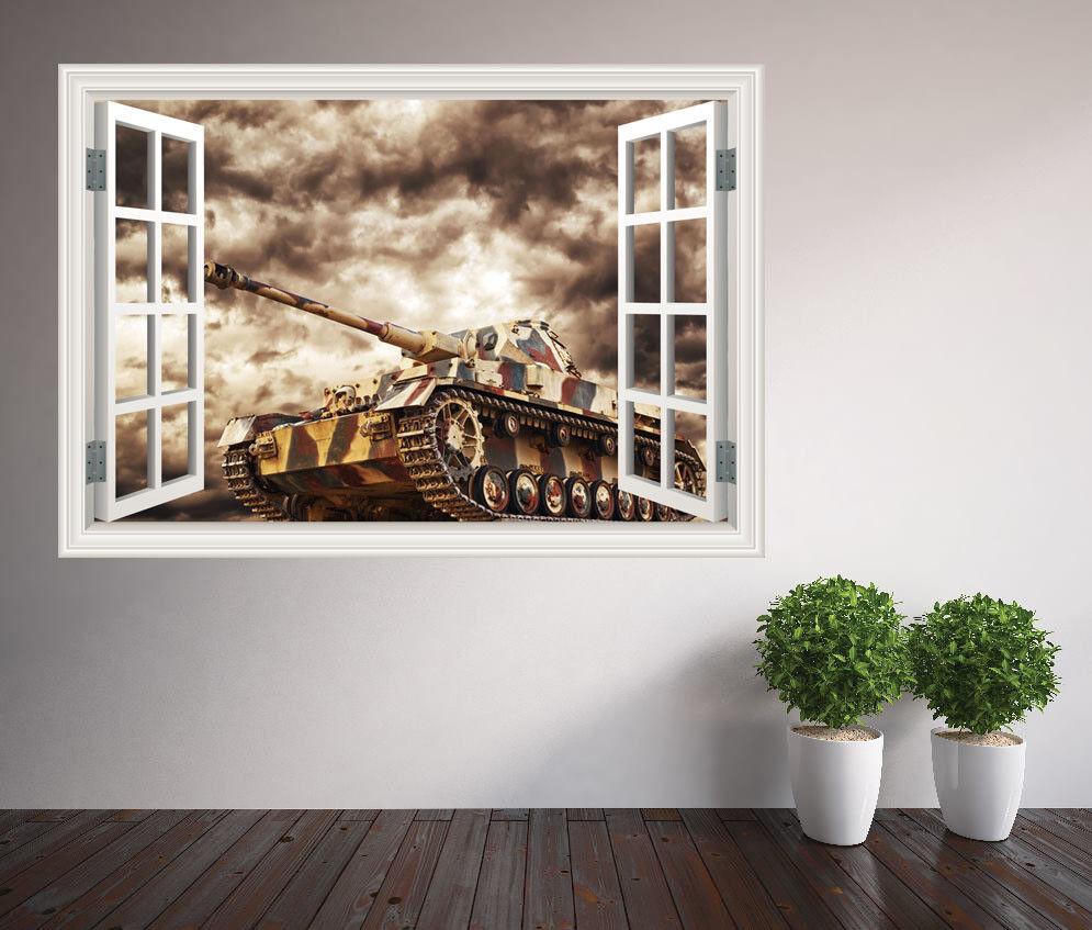 Militaire Tank Guerre de près Fenêtre Autocollant Mural (35897130ww) Décoration (35897130ww) Mural 84b355