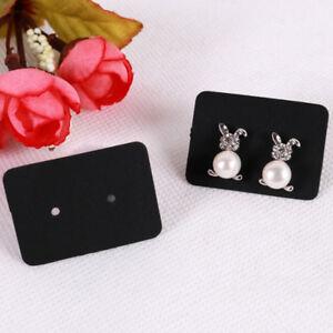 100x Jewelry earring ear studs hanging display holder hang cards organizer SU