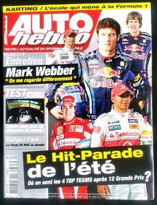Auto Hebdo Du 11/8/2010; Hit Parade Top Teams De L'été/ Interview Mark Webber