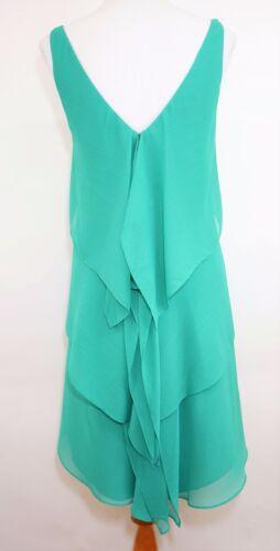Nieuwe zoom 2 groen maat Ann Aqua jurk gelaagde asymmetrische multi mouwloze Taylor rTqwS1r