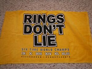 PITTSBURGH-STEELERS-TERRIBLE-TOWEL-SCARCE-RINGS-DON-039-T-LIE-SIX-TIME-WORLD-CHAMPS