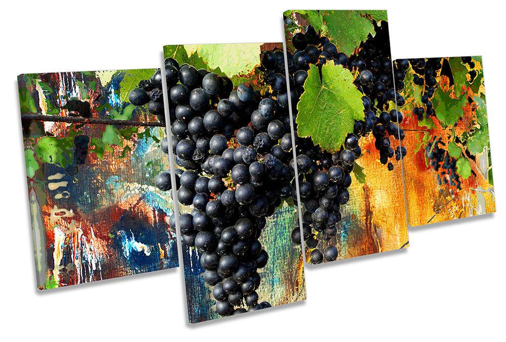 Grapes Abstract Still Life Framed MULTI CANVAS Drucken Wand Kunst