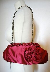 Red Phase Clutch Rosie Satin Poppy Bag a Bnwt cinturino Eight con 40 catena £ rII6qwc1