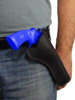 Barsony Black Leather Cross-draw Gun Holster For Ruger 6 22 38 357 44 Revolvers