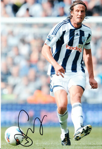 West Bromwich Albion F.C Jonas Olsson Hand Signed 1112 Photo 12x8 3.