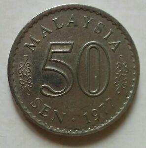 Parliament Series 50 sen coin 1977