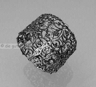 Wunderschöner filigraner SERVIETTENRING 835 Silber massiv - Ranken+ Blütendekor