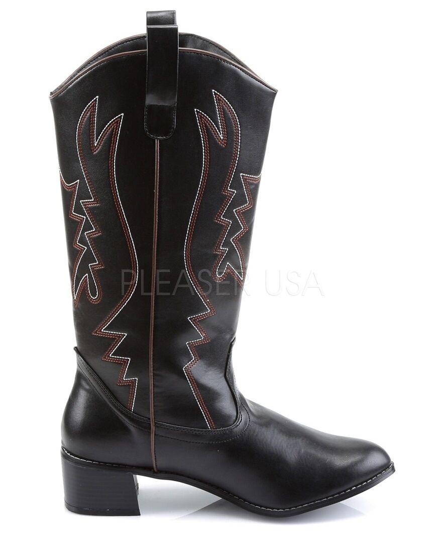 Funtasma Western Cowboy Cosplay Black Knee Boots Large (12 13)
