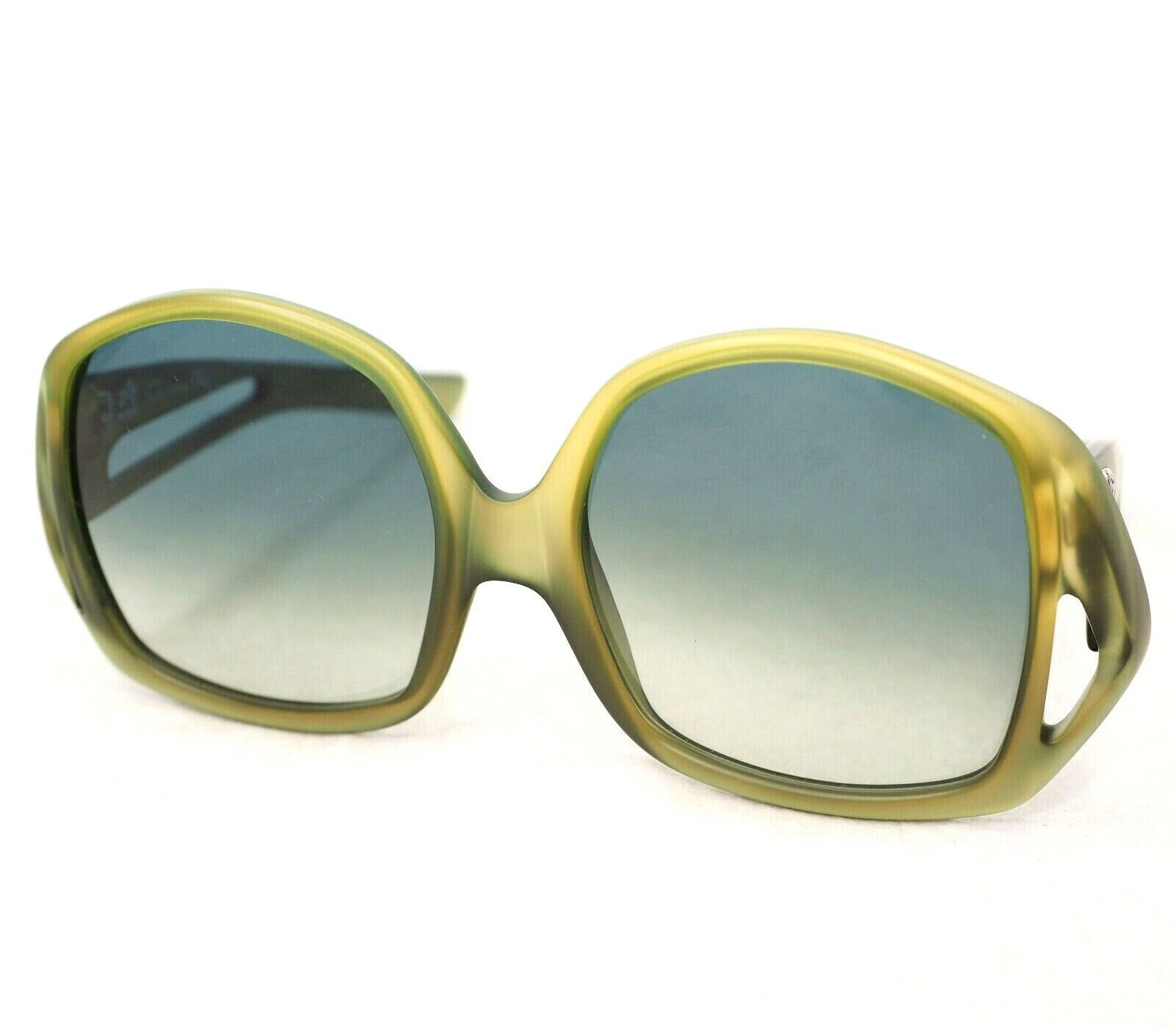 CHRISTIAN DIOR sunglasses vintage amber green oversize rectangular butterfly