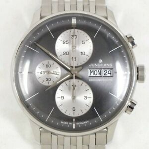 JUNGHANS Watch Meister Chronoscope 027/4525 Men's Automatic Winding Genuine