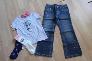 Nuova-con-Etichetta-Ragazze-Gymboree-Sz-6-Camicia-Jeans-Calzini-Fiore