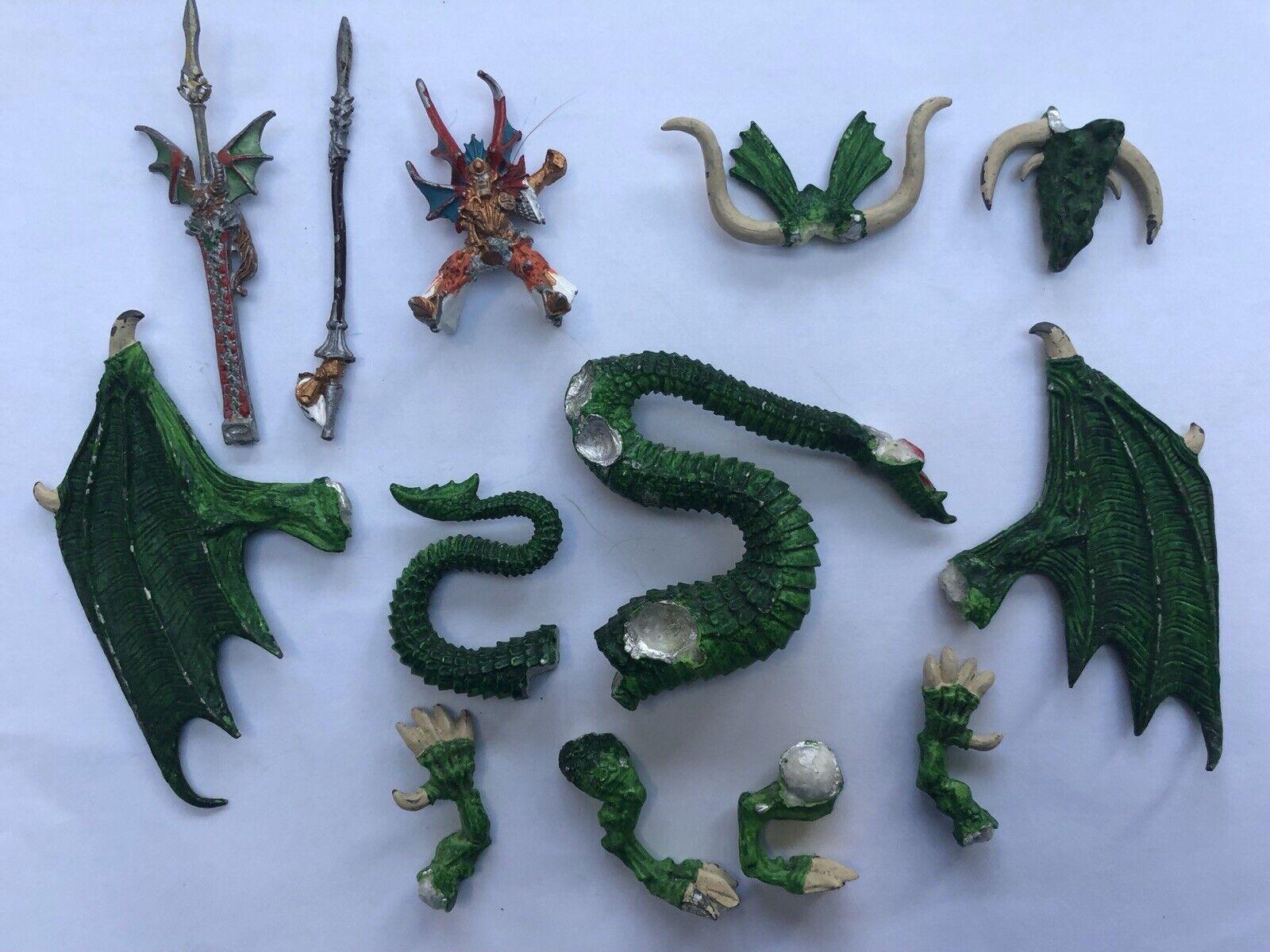 Classic Warhammer High Elf Imrik Lord of Dragons & Dragon OOP metal unboxed WHFB
