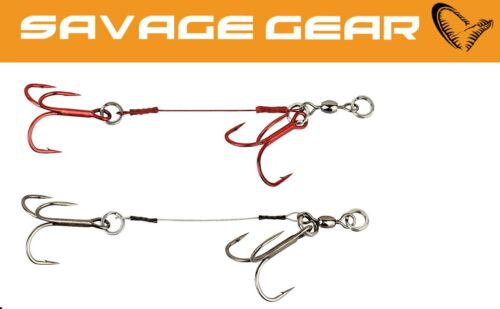2 Angsthakensystem für Gummiköder Savage Gear Carbon 49 Corkscrew Stinger