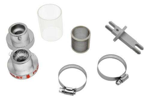 """Discount Champion Chrome In-Line Coolant Filter for 1 1//4/"""" hose"""
