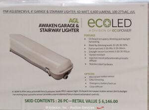 Lot of (26) Ecopower AGL60WCWV4 LED Awaken Garage & Stairway Lights bidadoo -New