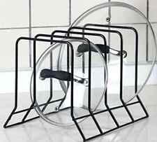 Kitchen Cabinet Pan Pot Lid Organizer Rack Cookware Storage Serving Tray Holder