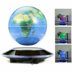 """Gift! 6"""" Magnetic Levitation Floating Globe LED Anti Gravity Rotating World Map"""