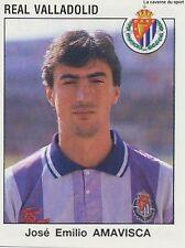 N°341 JOSE EMILIO AMAVISCA REAL VALLADOLID CROMO STICKER PANINI LIGA 1994