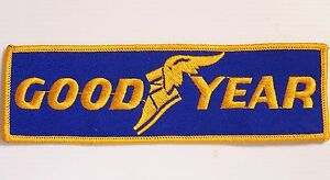 VINTAGE-GOOD-YEAR-EMBROIDERED-PATCH-WOVEN-CLOTH-BADGE-SEW-ON-TYRES-MOTOR-RACING