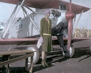 AMELIA-EARHART-AVIATION-PIONEER-PILOT-1928-8x10-034-HAND-COLOR-TINTED-PHOTOGRAPH
