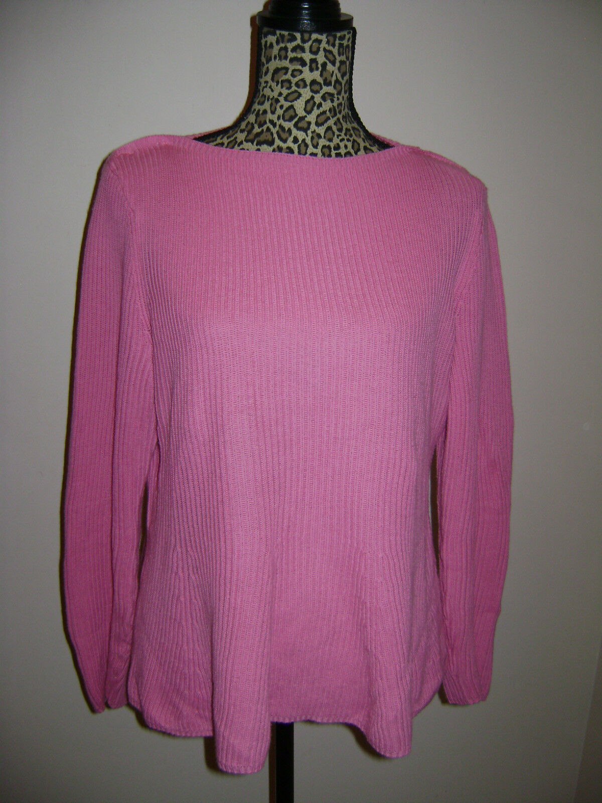 RALPH LAUREN EXCLUSIVE WOMEN SWEATER TOP SHIRT size L PINK 100% COTTON STUNNING