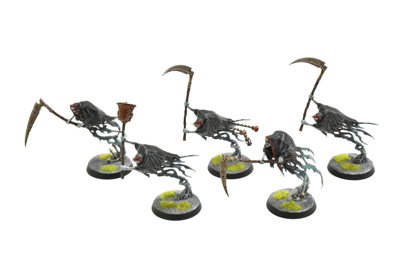 Nighthaunt 5 grimghast segadores Pro pintado warhammer Sigmar no-muertos