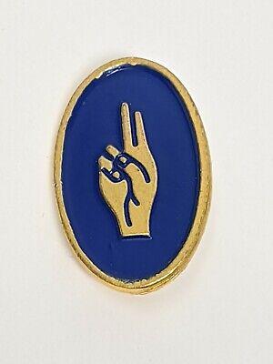 Girlguiding Brownies Vintage Obsolete Badge Deaf Awareness Stage 1