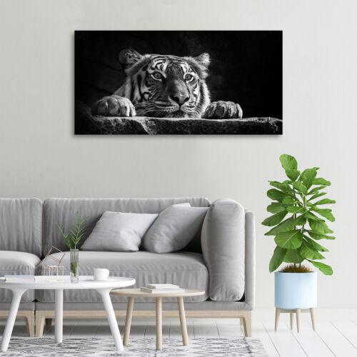 Glas-Bild Wandbilder Druck auf Glas 100x50 Deko Tiere Tiger