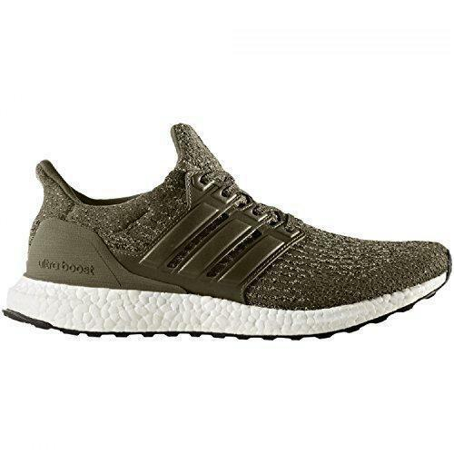 Mens Adidas Ultraboost 3.0 Trace Olive Green Running Trainers S82018