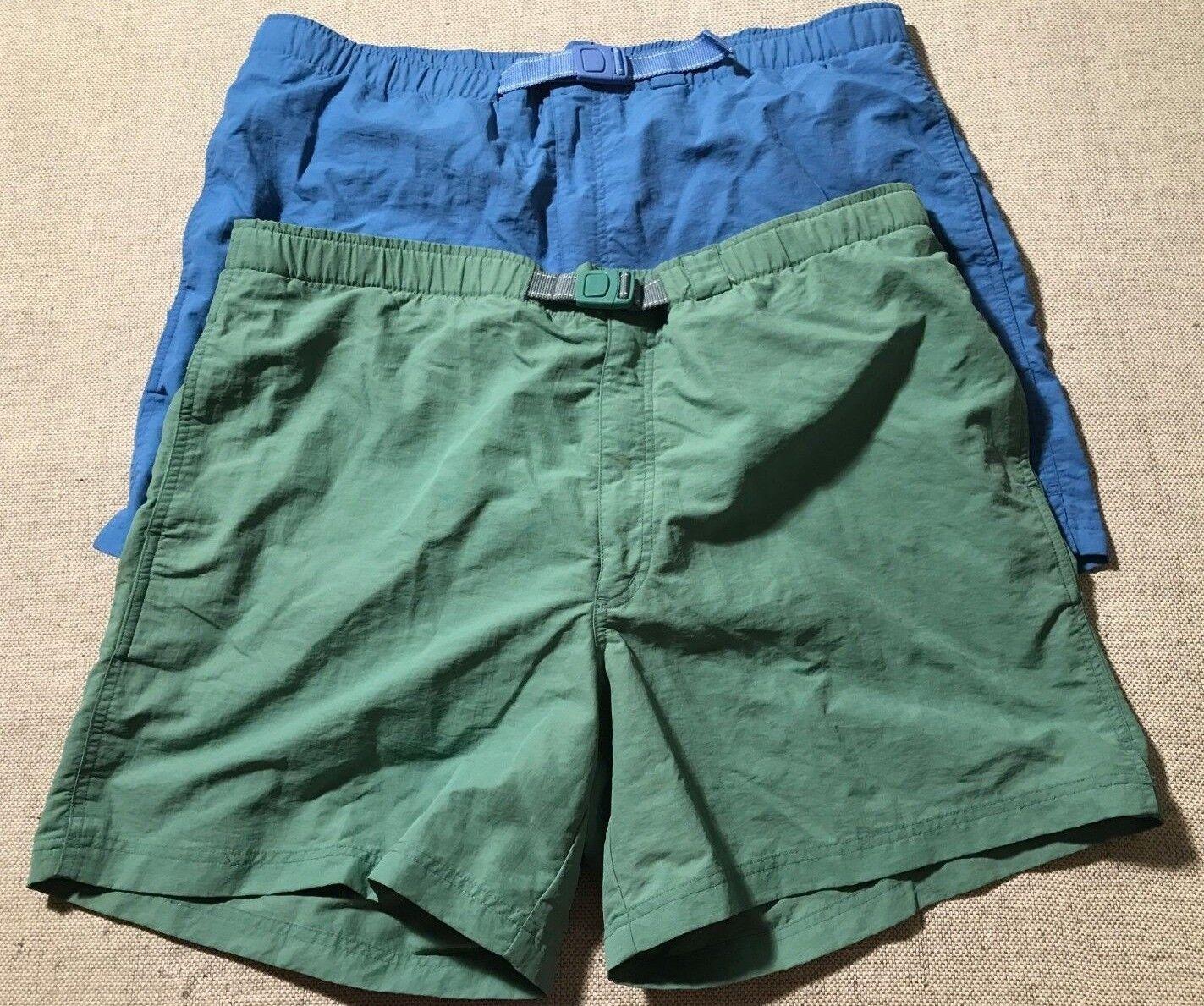 Lot of 2 Lands' End Men's Nylon Belted Swim Trunks Mesh Lining Shorts Sz XL  C9