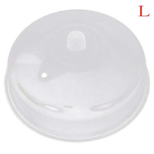 Microwave Food Cover Plate Vented Splatter Protector Clear Kitchen Lid Vent UK