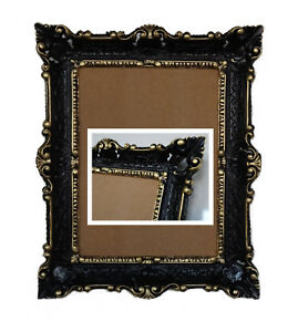Image Is Loading Antique Baroque Picture Frame Black Gold 56x46 Photo