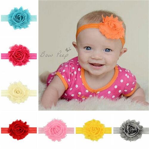 12X Kids Girl Baby Headband Toddler  Flower Hair Band Headwear Accessories  DSUK
