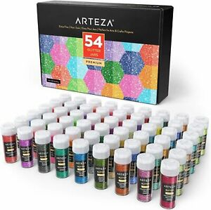 Arteza-Neon-amp-Holographic-Glitter-Shaker-Jars-Set-of-54