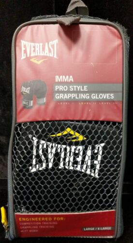 Everlast Pro Style MMA Grappling Gloves LargeXtra Large Black NEW