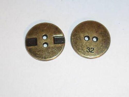 8 Bottoni in Metallo 20mm Bottoni Altmessing 200mk