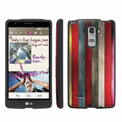 Slim Guard Case for LG G Stylo (G4 Note)  - Colorful Wooden Pattern