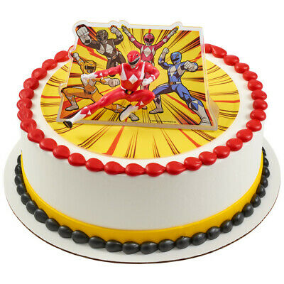 Tremendous Power Rangers Morphin Time Cake Topper Red Ranger Birthday Party Funny Birthday Cards Online Inifodamsfinfo
