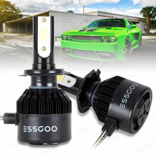2 x H7 LED Headlight Kit 72W 9000LM High Beam Bulb Super Bright Conversion 6500K